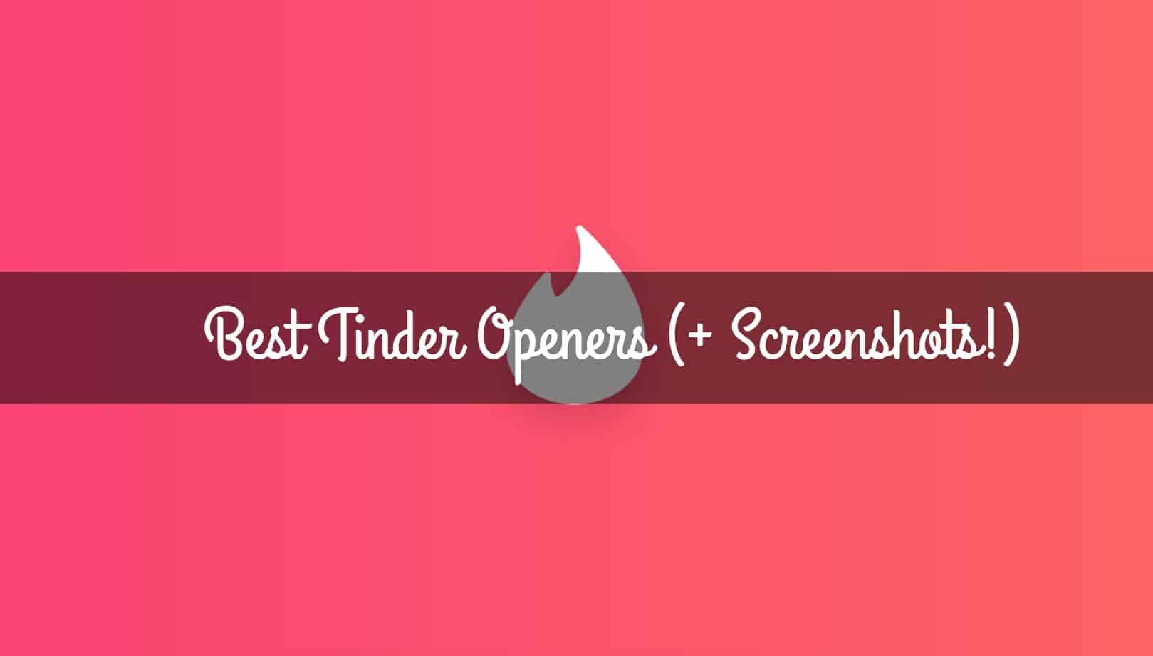 Best online dating openers