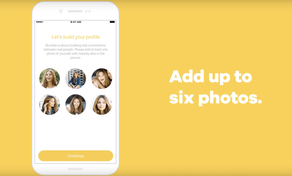 setting up bumble account