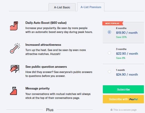 okcupid pricing