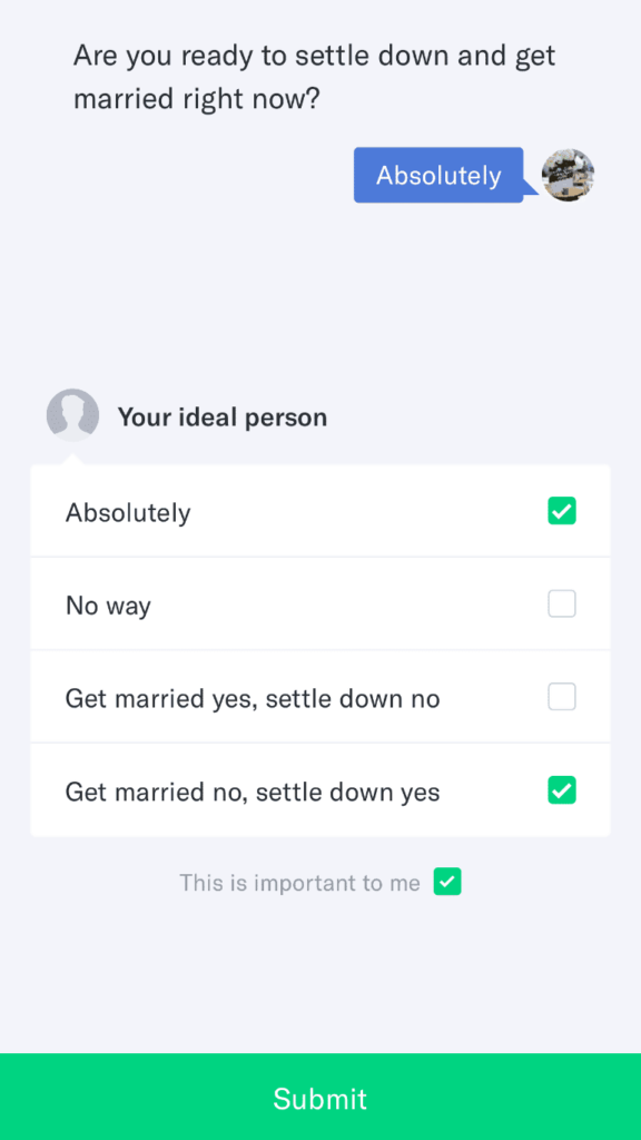 okcupid answering match questions