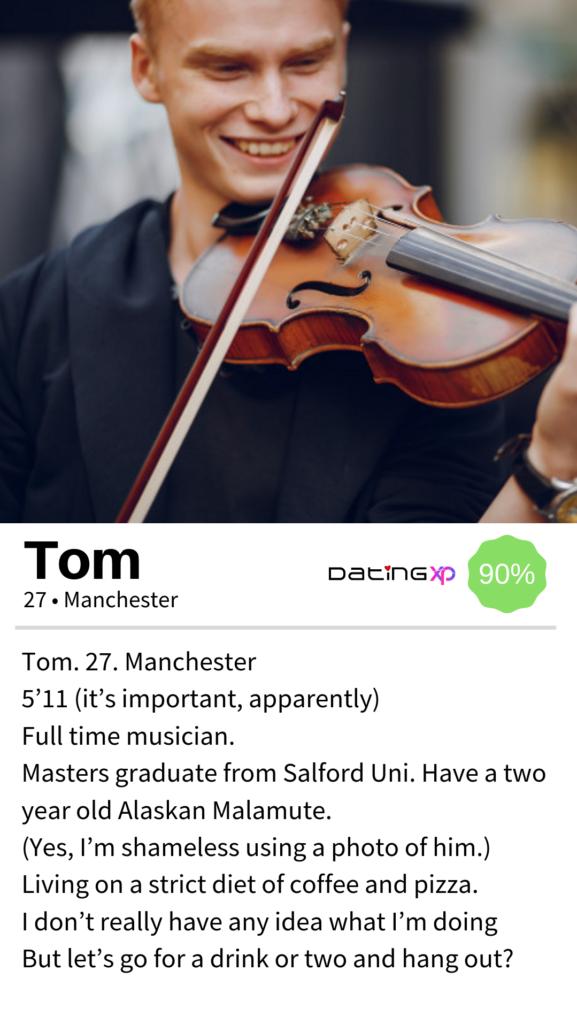 OkCupid men Profile Example #1