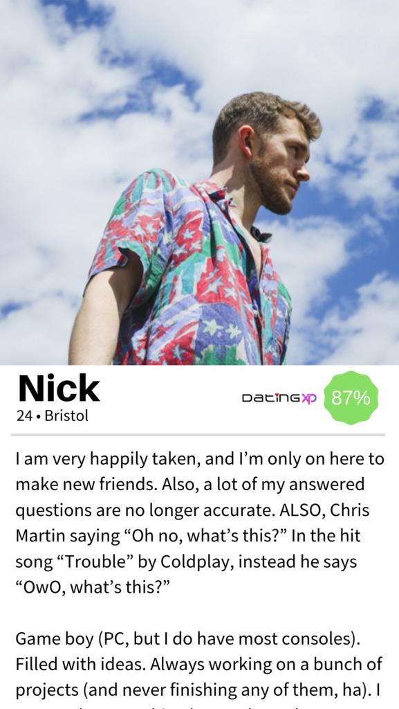 OkCupid men Profile Example #3