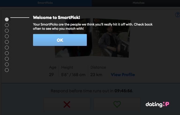 zoosk smartpick feature