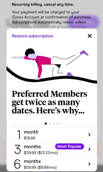 hinge membership