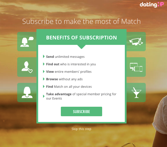 match.com subscription beenfits