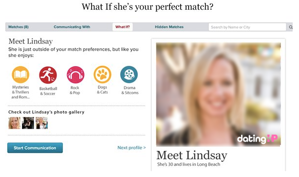 eharmony profile example