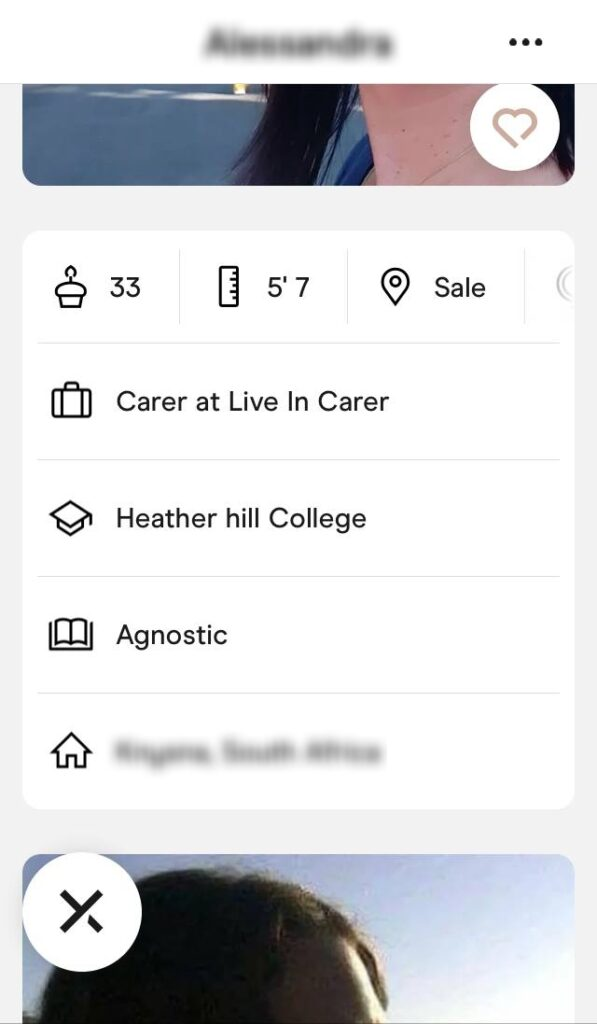 hinge profile about section example